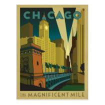 Chicago, IL - The Magnificent Mile Postcard