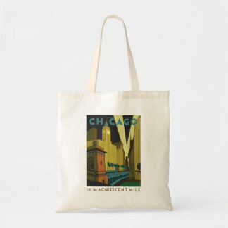 Chicago, IL - The Magnificent Mile Tote Bag