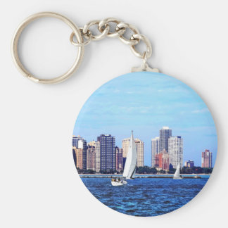Chicago IL - Two Sailboats by Chicago Skyline Keychain