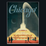"Chicago, IL - Visit Chicago Postcard<br><div class=""desc"">Anderson Design Group is an award-winning illustration and design firm in Nashville,  Tennessee. Founder Joel Anderson directs a team of talented artists to create original poster art that looks like classic vintage advertising prints from the 1920s to the 1960s.</div>"
