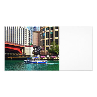 Chicago IL - Water Taxi by Columbus Drive Bridge Card