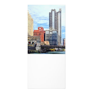 Chicago IL - Water Taxi Passing Under Lyric Opera Rack Card