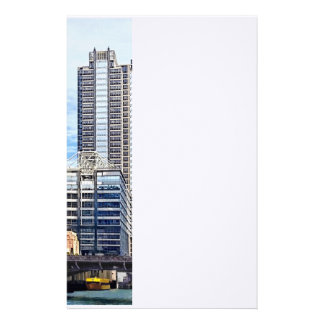 Chicago IL - Water Taxi Passing Under Lyric Opera Customized Stationery