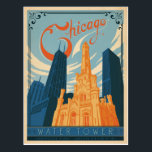 "Chicago, IL - Water Tower Postcard<br><div class=""desc"">Anderson Design Group is an award-winning illustration and design firm in Nashville,  Tennessee. Founder Joel Anderson directs a team of talented artists to create original poster art that looks like classic vintage advertising prints from the 1920s to the 1960s.</div>"