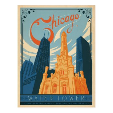 AndersonDesignGroup Chicago, IL - Water Tower Postcard
