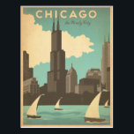 "Chicago, IL - Windy City Postcard<br><div class=""desc"">Anderson Design Group is an award-winning illustration and design firm in Nashville,  Tennessee. Founder Joel Anderson directs a team of talented artists to create original poster art that looks like classic vintage advertising prints from the 1920s to the 1960s.</div>"