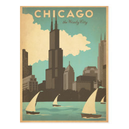 Chicago, IL - Windy City Postcard