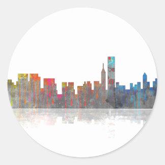 Chicago Illinios Skyline Classic Round Sticker