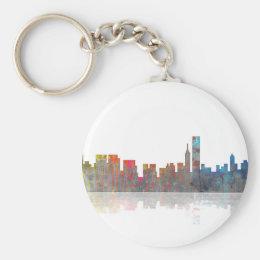 Chicago Illinios Skyline Keychain