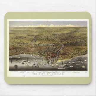 Chicago Illinois, 1874 Mouse Pad