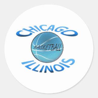 Chicago Illinois Basketball Classic Round Sticker