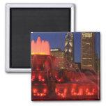 Chicago, Illinois, Buckingham Fountain 2 Inch Square Magnet