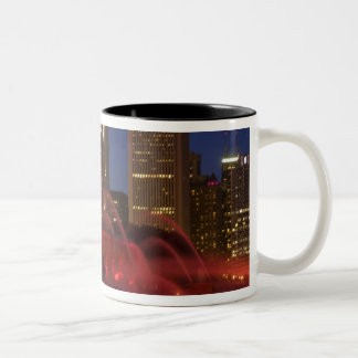Chicago, Illinois, Buckingham Fountain Two-Tone Coffee Mug