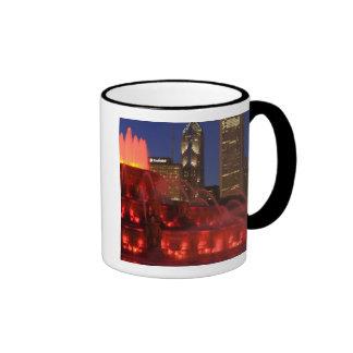 Chicago, Illinois, Buckingham Fountain Ringer Coffee Mug