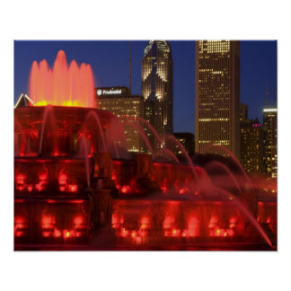 Chicago, Illinois, Buckingham Fountain Poster