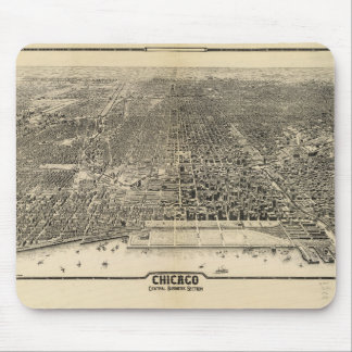 Chicago, Illinois Central Business Section (1916) Mouse Pad