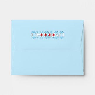 Chicago Illinois, Chicago Flag Design Envelope
