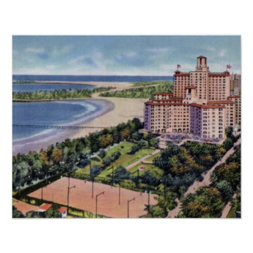 Chicago Illinois Edgewater Beach Hotel Print