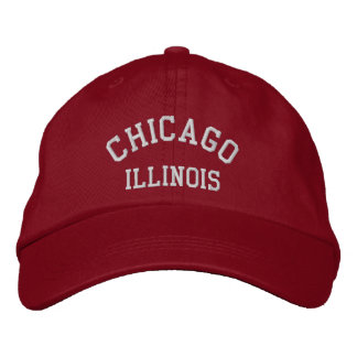CHICAGO, ILLINOIS EMBROIDERED BASEBALL HAT