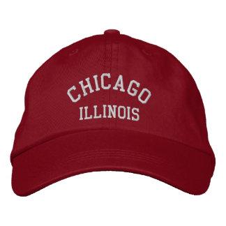 CHICAGO, ILLINOIS EMBROIDERED BASEBALL CAP