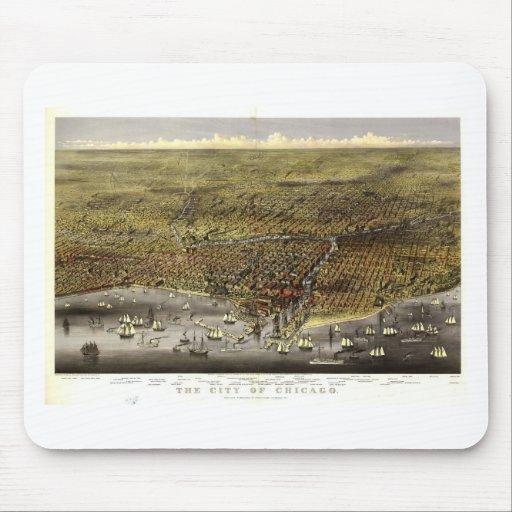 Chicago, Illinois en 1874 Tapetes De Raton