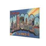 Chicago, Illinois - escenas grandes 2 de la letra Lona Estirada Galerias