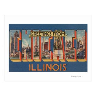 Chicago Illinois - escenas grandes 2 de la letra Tarjeta Postal
