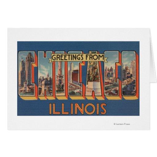 Chicago, Illinois - escenas grandes 2 de la letra Tarjeta De Felicitación