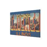 Chicago, Illinois - escenas grandes de la letra Lienzo Envuelto Para Galerías