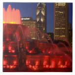 Chicago, Illinois, fuente de Buckingham Azulejo Cuadrado Grande