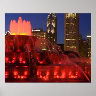 Chicago Illinois fuente de Buckingham Impresiones