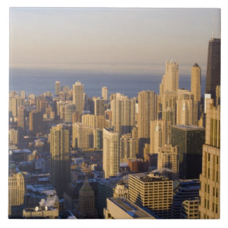 Chicago, Illinois, horizonte del Torre Sears Azulejo Cuadrado Grande