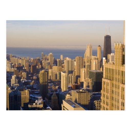 Chicago, Illinois, horizonte del Torre Sears Tarjeta Postal