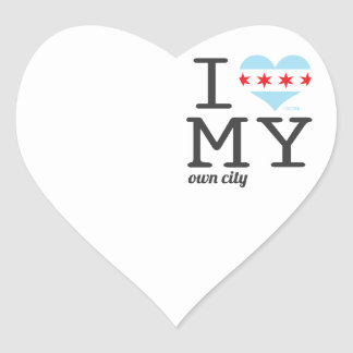 Chicago | Illinois I love my own city Heart Sticker