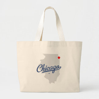 Chicago Illinois IL Shirt Canvas Bags