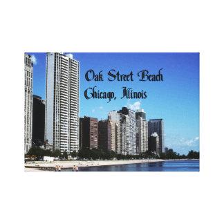 Chicago Illinois Impresión En Lona Estirada
