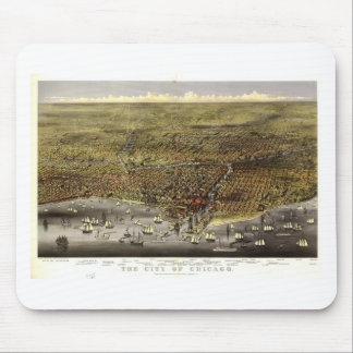 Chicago, Illinois in 1874 Mouse Pad