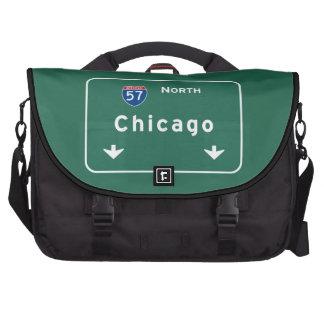 Chicago Illinois Interstate Highway Freeway Road : Laptop Computer Bag