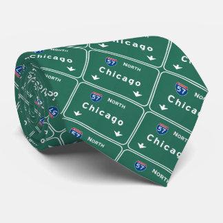 Chicago Illinois Interstate Highway Freeway Road : Neck Tie