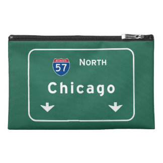 Chicago Illinois Interstate Highway Freeway Road : Travel Accessory Bags