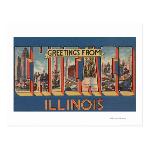 Chicago, Illinois - Large Letter Scenes 2 Postcard