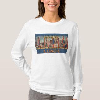 Chicago, Illinois - Large Letter Scenes 2 T-Shirt
