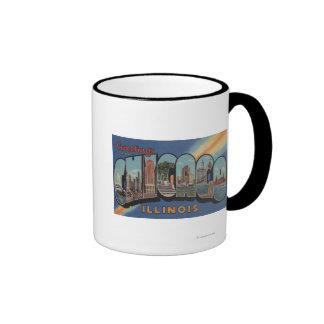 Chicago, Illinois - Large Letter Scenes Mug