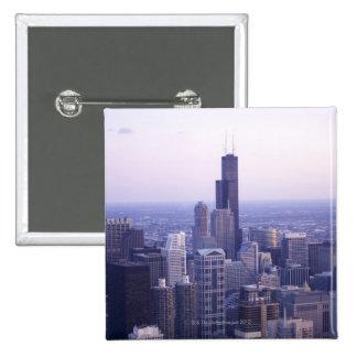 Chicago, Illinois, los E.E.U.U. 2 Pin Cuadrada 5 Cm