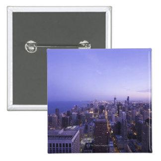Chicago, Illinois, los E.E.U.U. 4 Pin Cuadrada 5 Cm