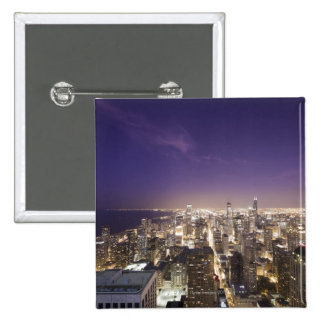 Chicago, Illinois, los E.E.U.U. 7 Pin Cuadrada 5 Cm