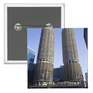 Chicago, Illinois, los E.E.U.U. Pin Cuadrada 5 Cm