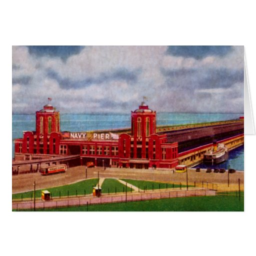 Chicago Illinois Navy Pier Greeting Card