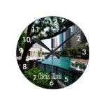 Chicago Illinois Reloj Redondo Mediano