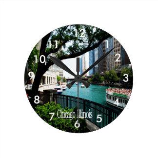 Chicago Illinois Round Clocks